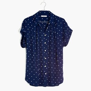 Madewell • Drapey Central Shirt in Polka Dot